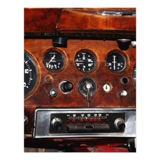 vintage car radio instruments dashboard letterhead