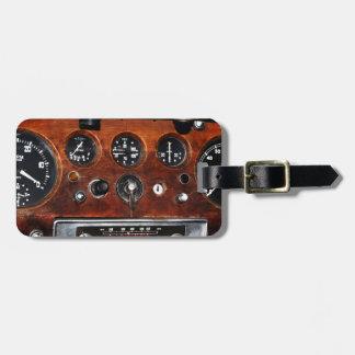 vintage car radio instruments dashboard travel bag tags
