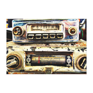Vintage car radios canvas print