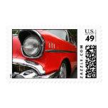 Vintage Car - Red Postage Stamp