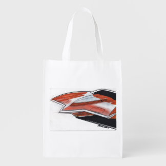 Vintage Car Sketch (10) Chevy 10 Reusable Grocery Bag