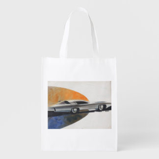 Vintage Car Sketch (20) LRG 8 Reusable Grocery Bag