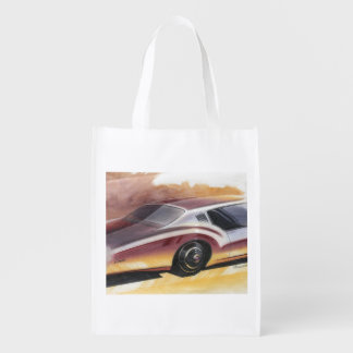 Vintage Car Sketch (27) LRG 15 Grocery Bag