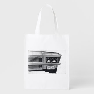 Vintage Car Sketch (49) Riviera 7 Grocery Bag