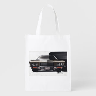 Vintage Car Sketch (50) Riviera 8 Reusable Grocery Bag