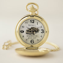 Vintage car themed personalized pocket watch