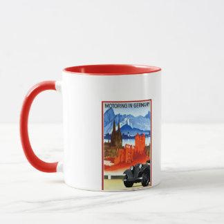 Vintage car travel Germany advertising Mug