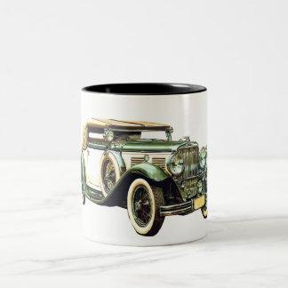 Vintage Car. Two-Tone Coffee Mug