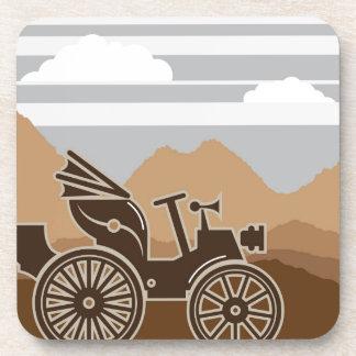 Vintage car vector 1800s coaster
