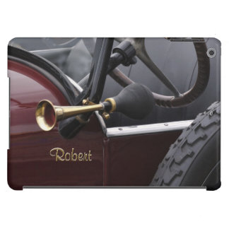 Vintage car with brass horn cover for iPad air