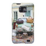 Vintage car with lots of luggage samsung galaxy s cases