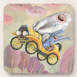 Vintage Car with Monsters Coaster