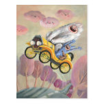 Vintage Car With Monsters Postcard at Zazzle