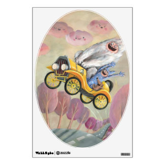 Vintage Car with Monsters Wall Sticker