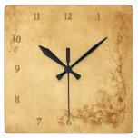 Vintage Caramel Brown Clocks