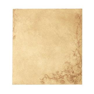 Vintage Caramel Brown Memo Note Pad