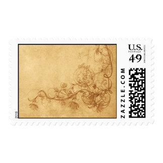 Vintage Caramel Brown Stamps