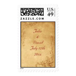 Vintage Caramel Brown Postage Stamp