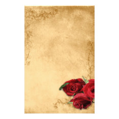 Vintage Caramel Brown & Rose Wedding Stationery at Zazzle