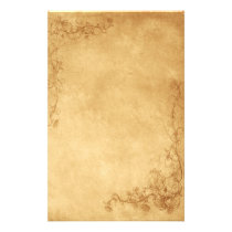 Vintage Caramel Brown Stationery