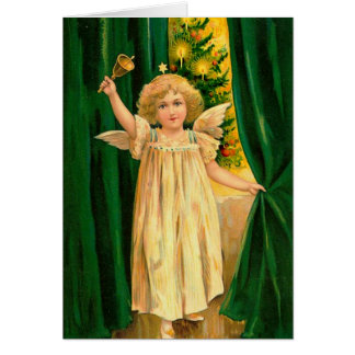 Vintage Card Angel Announces Christmas