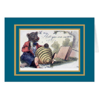 Vintage Card Bear Honey You Are Sweet