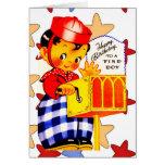 Vintage Card Happy Birthday To Little Boy Greeting Card