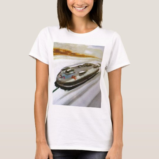 Vintage Card of a racing Car Fitted Tee Shirt