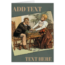 Vintage Card Players,add text