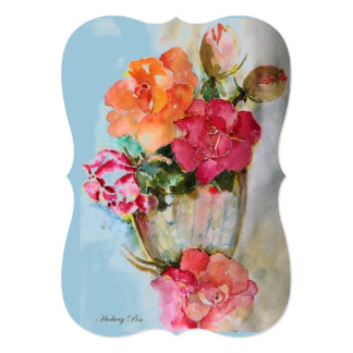 """Vintage card """"Roses from candies"""" 5"""" X 7"""" Invitation Card"""