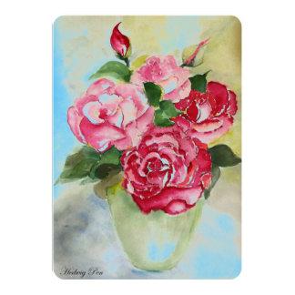 "Vintage Card ""Vintage roses"" 5"" X 7"" Invitation Card"