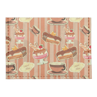 Vintage Card With A Strawberry Dessert Card Wallet
