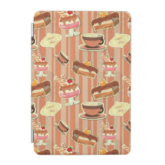 Vintage Card With A Strawberry Dessert iPad Mini Cover