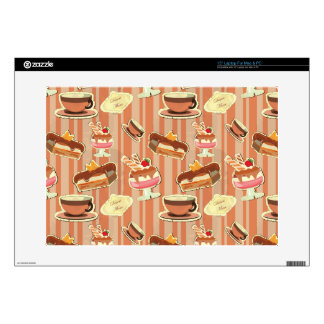 Vintage Card With A Strawberry Dessert Laptop Skin