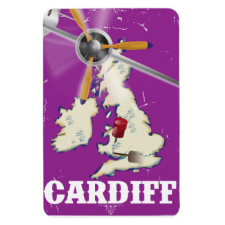 Vintage Cardiff Wales Travel Poster Magnet