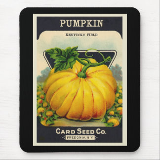 Vintage Card's Pumpkin Seed Package Mouse Pad
