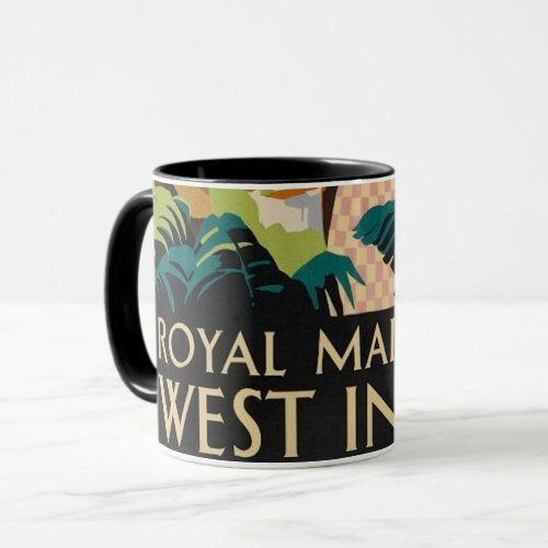 Vintage Caribbean Travel Poster mug
