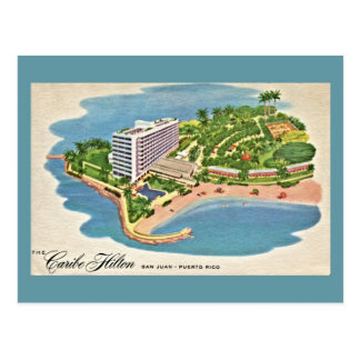 Vintage Caribe Hilton San Juan Puerto Rico Postcard
