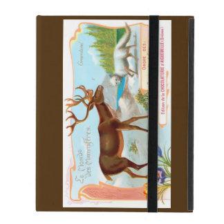 Vintage Caribou (Reindeer) and Arctic Fox iPad Folio Case