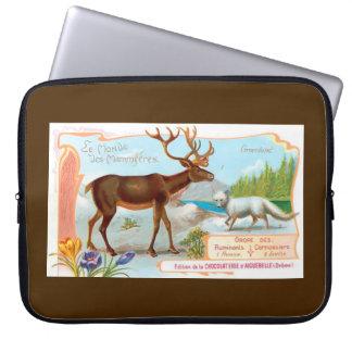 Vintage Caribou (Reindeer) and Arctic Fox Laptop Sleeves