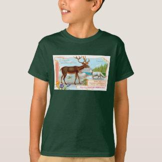 Vintage Caribou (Reindeer) and Arctic Fox T-Shirt