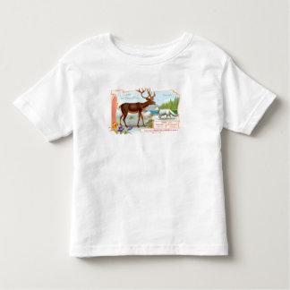 Vintage Caribou (Reindeer) and Arctic Fox Toddler T-shirt