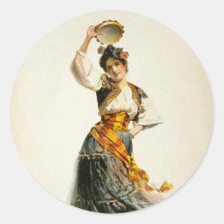 Vintage Carmen Classic Round Sticker