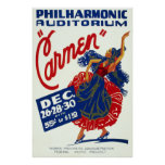 Vintage Carmen Performance Art Poster