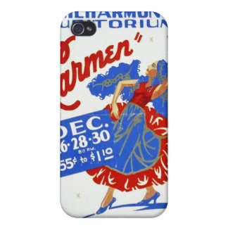 """Vintage """"Carmen"""" Performing Arts WPA Poster Cover For iPhone 4"""