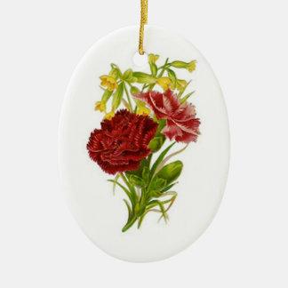 Vintage Carnations Ornament