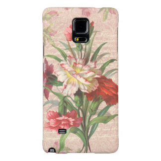 Vintage Carnations with Script Floral Background Galaxy Note 4 Case