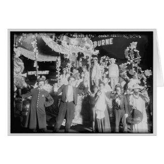"Vintage ""carnaval"" Coney Island Tarjetón"