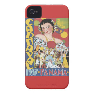 Vintage Carnaval Panamá 1937 Case-Mate iPhone 4 Carcasas
