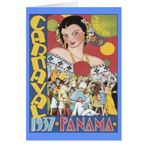 Vintage Carnaval Panama 1937 Greeting Cards
